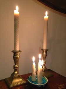 Dining Table Candles & La Luna Swirls